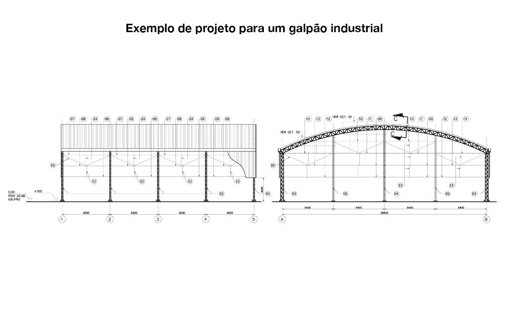 Desenho Técnico Galpão